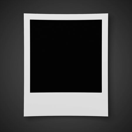 recollection: Blank photo isolated on black