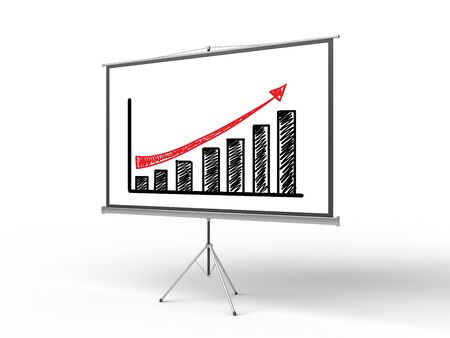 flip chart with chart on a white background