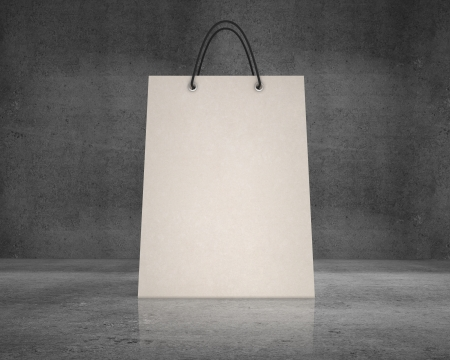 shopping bag  on a concrete background Stock Photo - 18325170