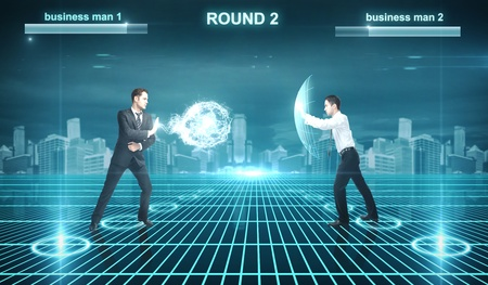 cyberspace: Battle of businessman in cyberspace