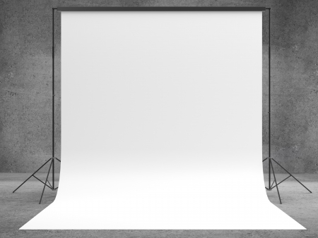 studios: photo background in concrete room