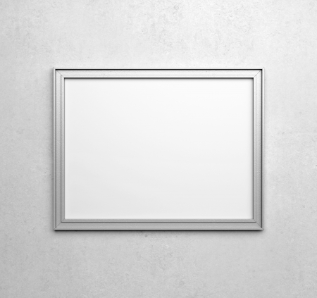 silver frames on white wall photo - White Wall Frames