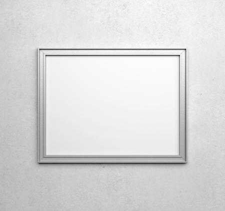 silver frames on white wall photo - White Frames