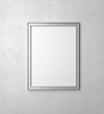 Silber leere Frames auf weiße Wand