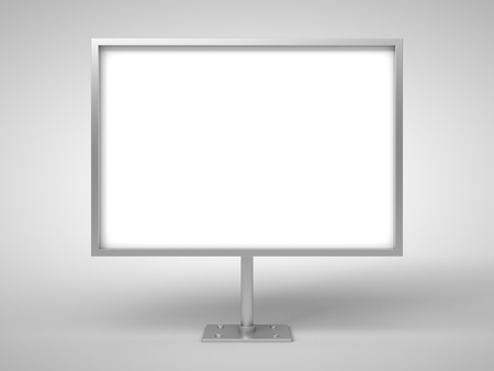 outdoor advertising: billboard on a gray background Stock Photo