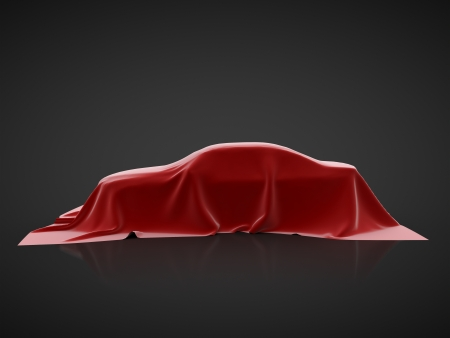 covering: car presentation on a black background Stock Photo