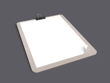 clipboard on a gray background photo