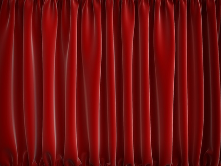 high resolution red curtains, 3d render