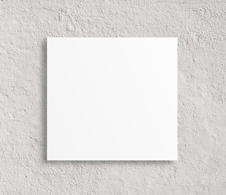 blank papar on a concrete background photo