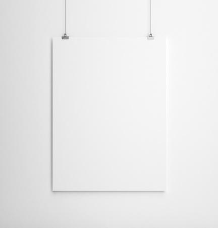 tarjeta de papel en la pared blanca Foto de archivo