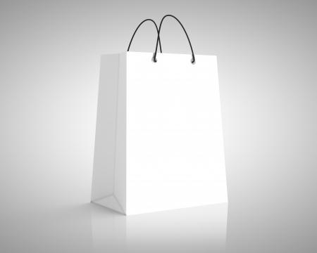 mochila escolar: paquete de papel blanco. close up Foto de archivo
