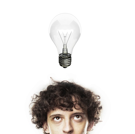 man with lamp, idea concept Stock Photo - 18505127