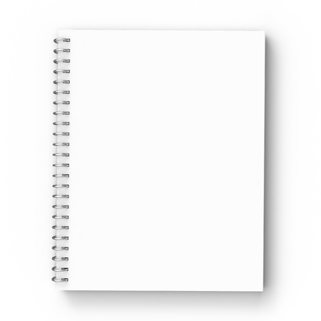 notebook on a white background photo