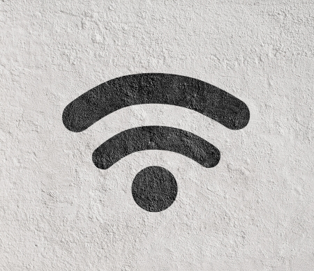 wifi connect symbol on wall Stock Photo - 18560805