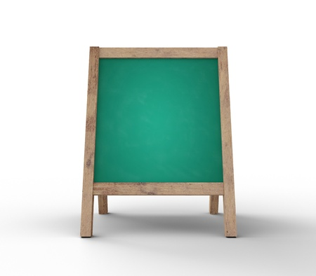 antique sleigh: green chalkboard on gray background