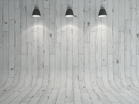 veneer: white wooden laminate and lamp as a background Stock Photo