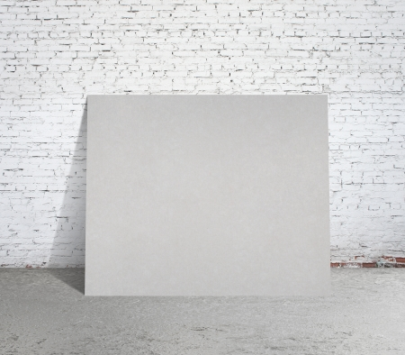 loft interior with blank paper card Stock Photo - 18761183