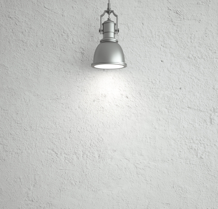 plafond: white wall with ceiling lamp