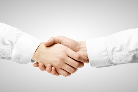 handshake on a white background photo