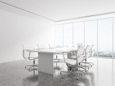 big window: witte kantoor met groot raam