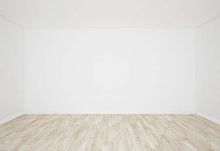 interior wooden parquet and white wall Stock Photo - 19090317