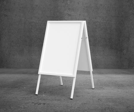 white sandwich board front on concrete background Stock Photo - 19090324