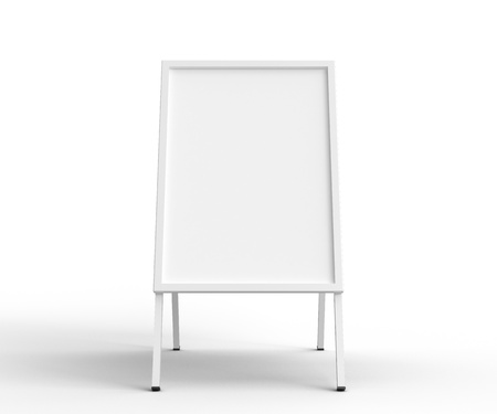 sandwich board front on white background photo