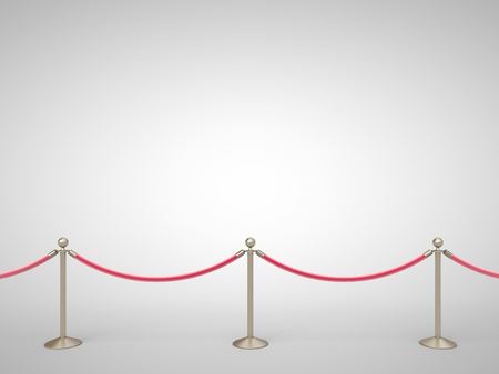 stanchions barrier gray on white Stock Photo - 19090261