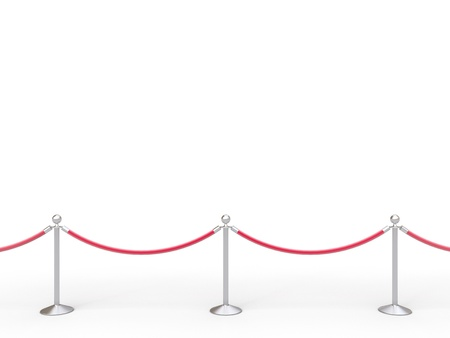 barrier: stanchions barrier isolated on white Stock Photo