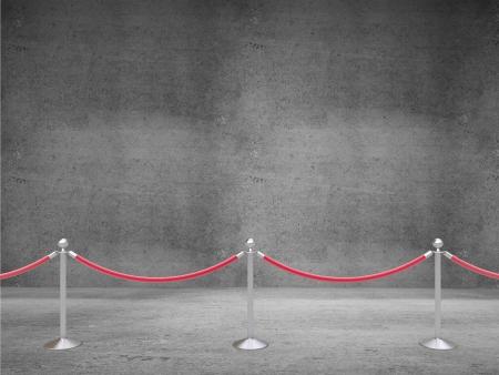 acomodador: barrera puntales en cuarto de concreto