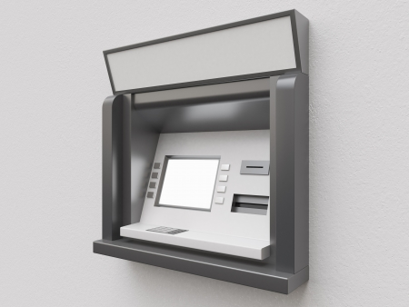atm on a gray background photo