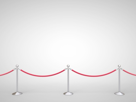stanchions barrier gray on white photo