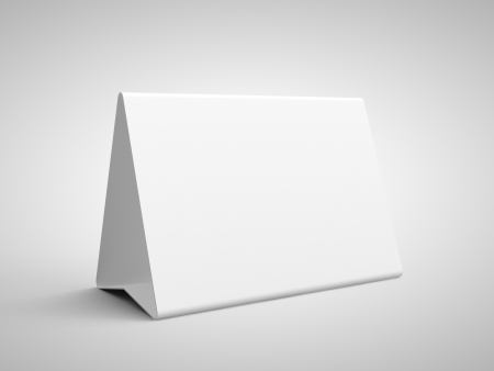 paper card on a gray background photo