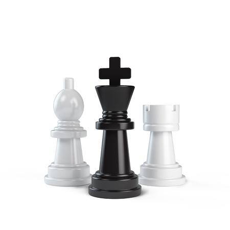zdradę: chessmans na białym tle