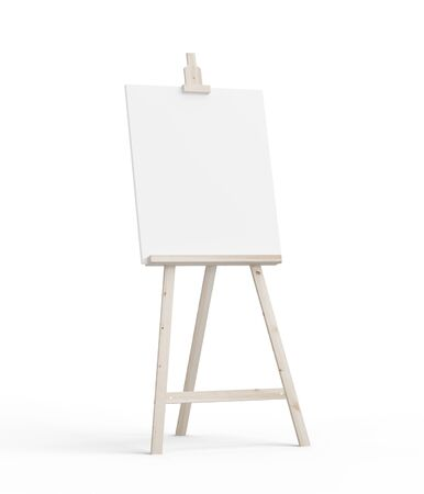 ecran: easel on a white background