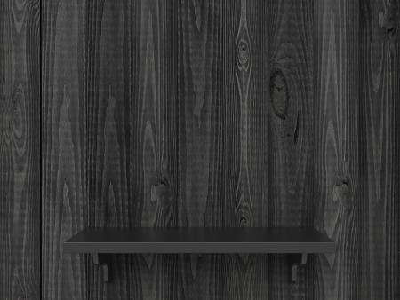 high resolution gray wooden shelf Stock Photo - 19833526