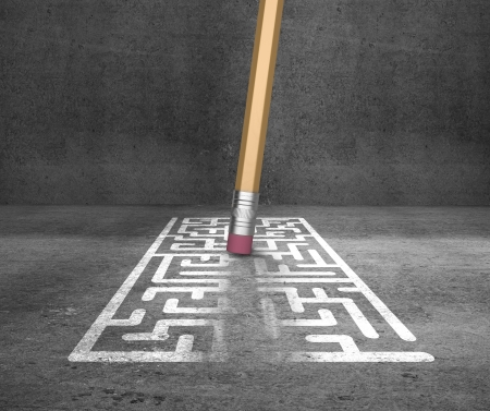 shortcut: pencil with eraser erases labyrinth