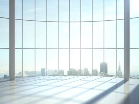 iluminacion: sala de rayos solares y ventana grande Foto de archivo