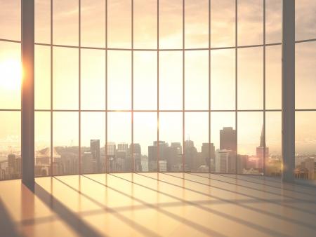 big window: zonlicht kamer en grote raam Stockfoto