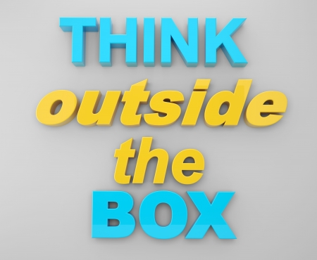 text think outside the box photo