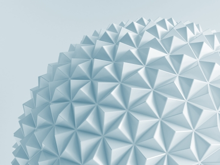 white abstract low poly geosphere photo