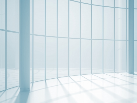 abstract room with big window Stock Photo - 20280227