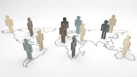 helvetica: helvetica men on a world map