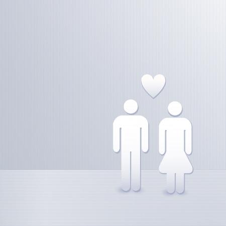 man in love, family concept 矢量图像