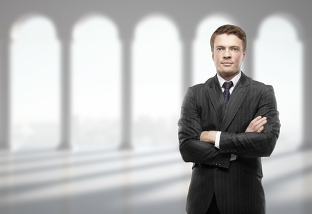 businessman in suit in office photo