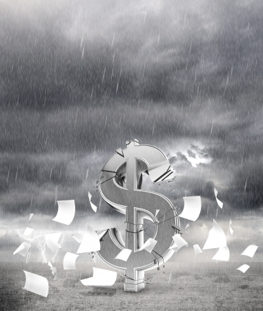 bad weather: decay dollar and fly paper in rainy weather