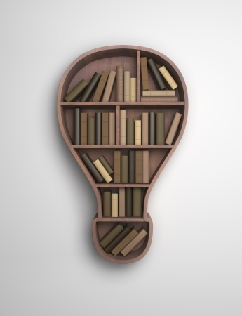 academia: book shelf in the form of lamp
