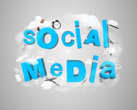 social media tags, internet concept photo