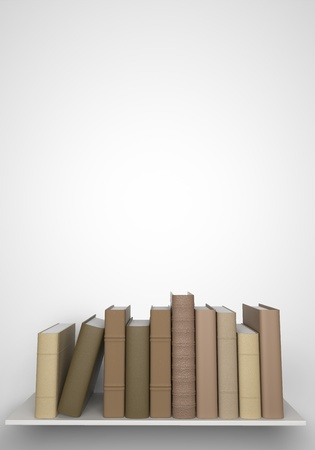 books on the bookshelf are Stock Photo - 21129230