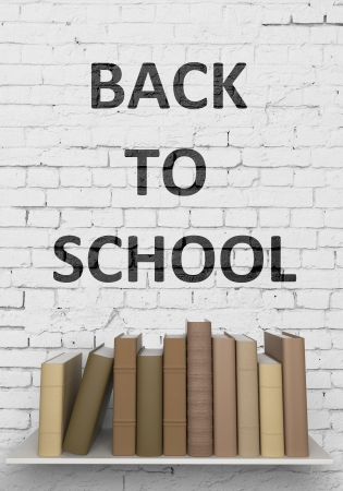 books on bookshelf are, back to school photo